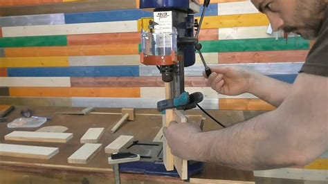 How To Make A Dowel Joint In The Drill Press
