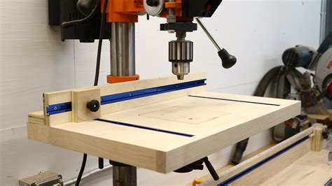 How To Make A Drill Press Table Youtube