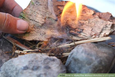 How To Make A Fire In The Woods With A Lighter