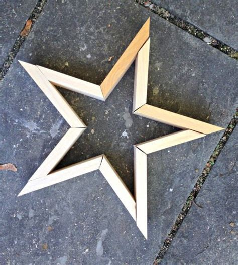 How To Make A Five Pointed Star From Wood