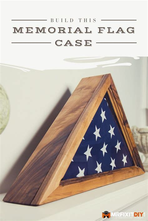 How To Make A Flag Case From Wood And Glass