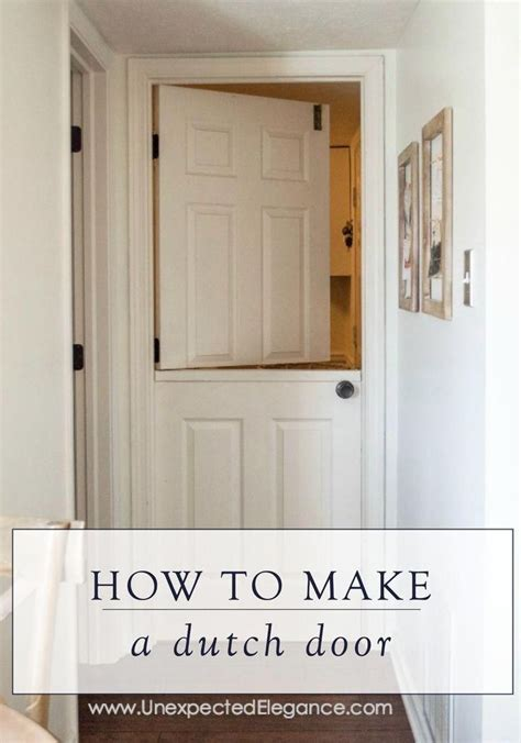 How To Make A Half Door For A Kitchen