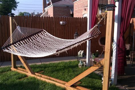 How To Make A Hammock Stand Instructables