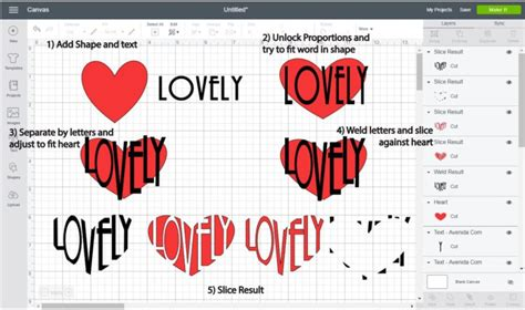How To Make A Heart Out Of Words Cricut