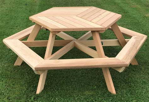 How To Make A Hexagon Picnic Table