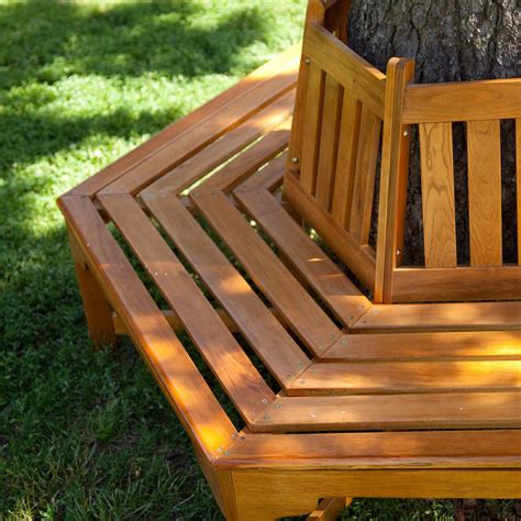 How To Make A Hexagonal Tree Bench