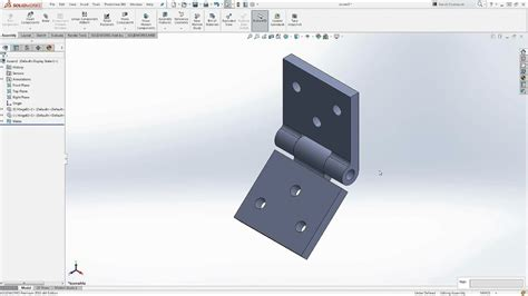 How To Make A Hinge In Solidworks