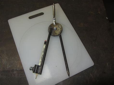 How To Make A Homemade Compass For Circles On The Square