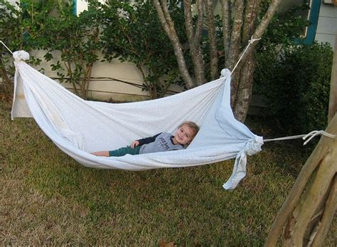 How To Make A Homemade Hammock With A Sheet