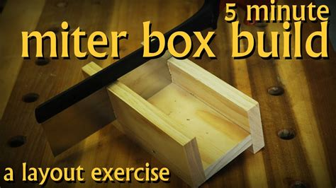 How To Make A Homemade Mitre Box