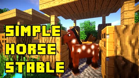 How To Make A Horse Stable In Minecraft Pe