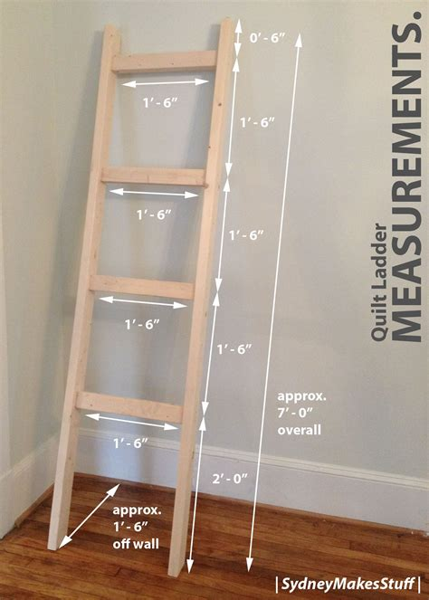 How To Make A Ladder Quilt Rack
