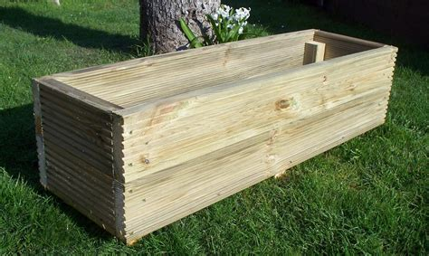 How To Make A Large Wooden Garden Planter