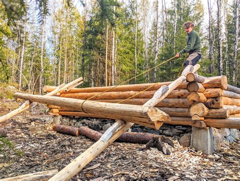 How To Make A Log Shed With Hand Tools