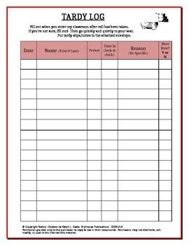 How To Make A Log Sheet For Late Call In