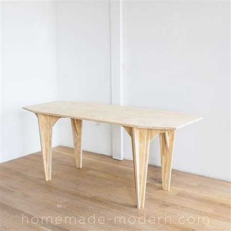 How To Make A Long Plywood Table