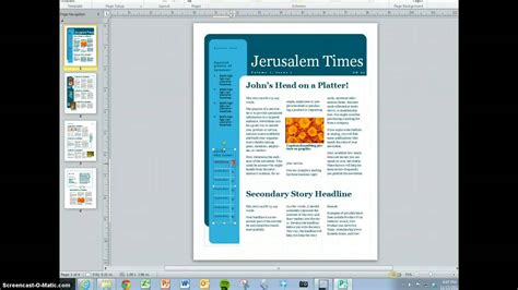 How To Make A Magazine Article In Ms Word