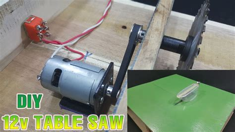 How To Make A Mini Table Saw Powered By 12v Adapter