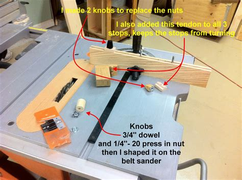 How To Make A Miter Gauge Stop