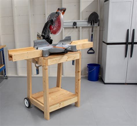 How To Make A Miter Saw Stand Out Of Wood
