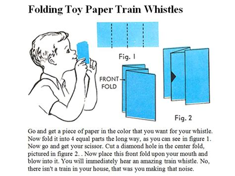 How To Make A Paper Train Whistle