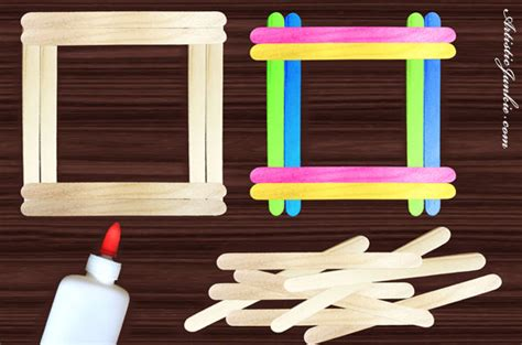 How To Make A Picture Frame With Popsicle Sticks
