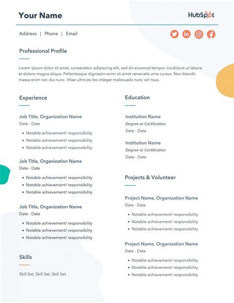 Resume Examples Online Free Ejemplo De Curriculum Vitae De Un