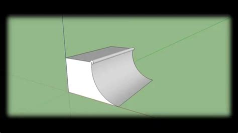 How To Make A Quarter Pipe In Sketchup