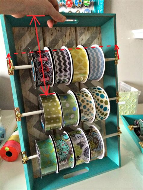 How To Make A Ribbon Storage Rack