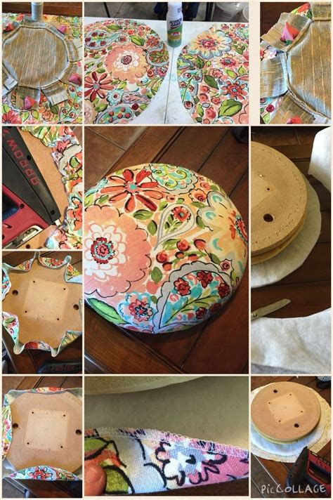 How To Make A Round Bar Stool Cushion