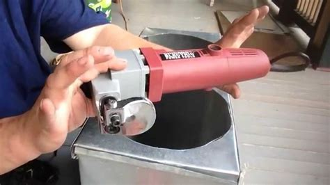 How To Make A Round Hole In Ductwork