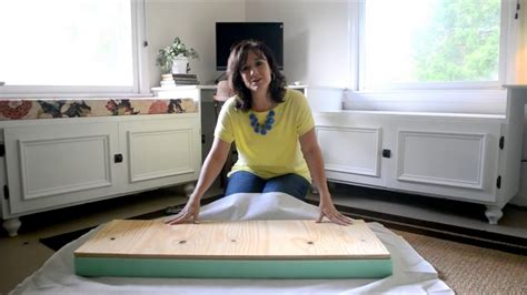 How To Make A Seat Cushion For A Chest