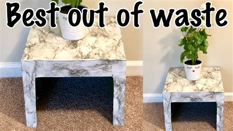 How To Make A Side Table Out Of Cardboard