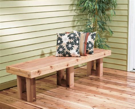 How To Make A Simple Deck Bench