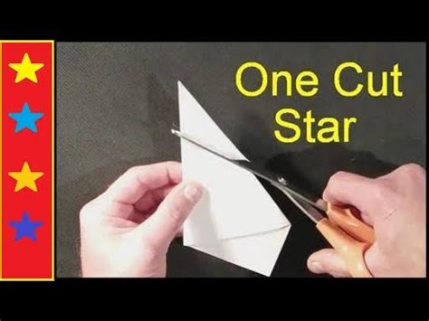 How To Make A Six Pointed Star With One Cut