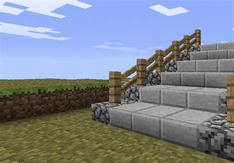 How To Make A Stair Railing In Minecraft