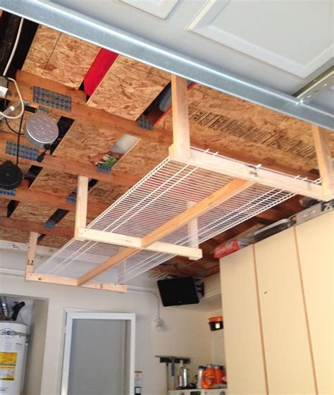 How To Make A Storage Rack Down From Garage Ceiling