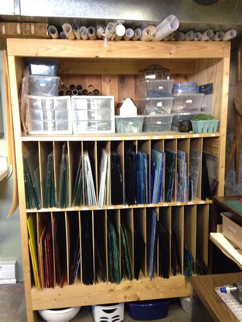 How To Make A Storage Rack For Stained Glass