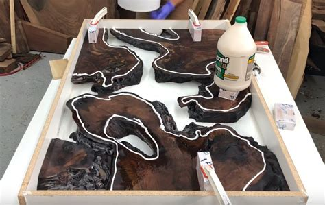 How To Make A Table Out Of Wood And Resin