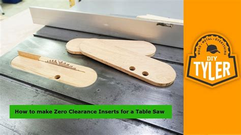 How To Make A Table Saw Insert Blanks