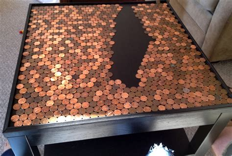 How To Make A Tabletop With Pennies
