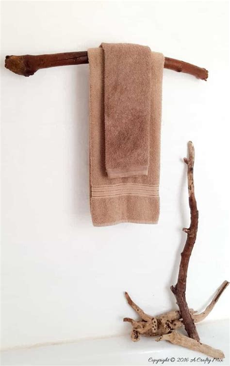How To Make A Towel Rack From Branches Of Philosophy