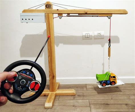 How To Make A Toy Wooden Crane