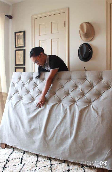 How To Make A Tufted Headboard Diy