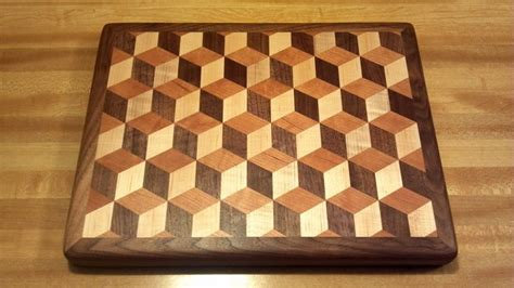 How To Make A Tumbling Block Cutting Board Plans