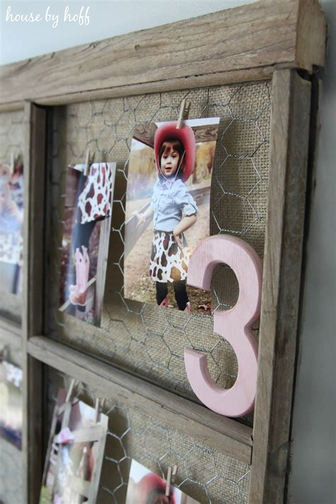 How To Make A Window Frame Photo Display
