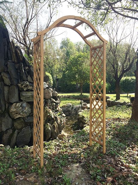 How To Make A Wooden Arch Opening Trellis