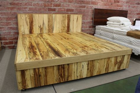 How To Make A Wooden Bed In Nature