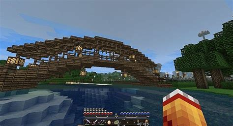 How To Make A Wooden Bridge In Minecraft