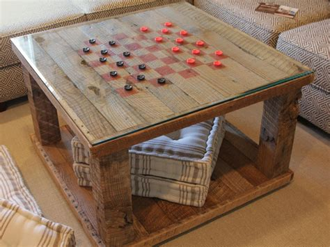 How To Make A Wooden Checkerboard Table
